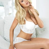 charlotte mckinney guess lingerie