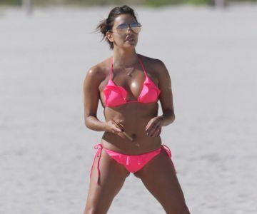 eva longoria in a bikini in miami