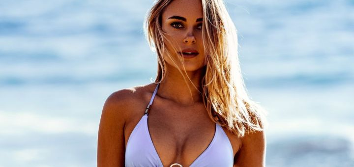 Kimberley Garner - Bikini photoshoot (Cannes)