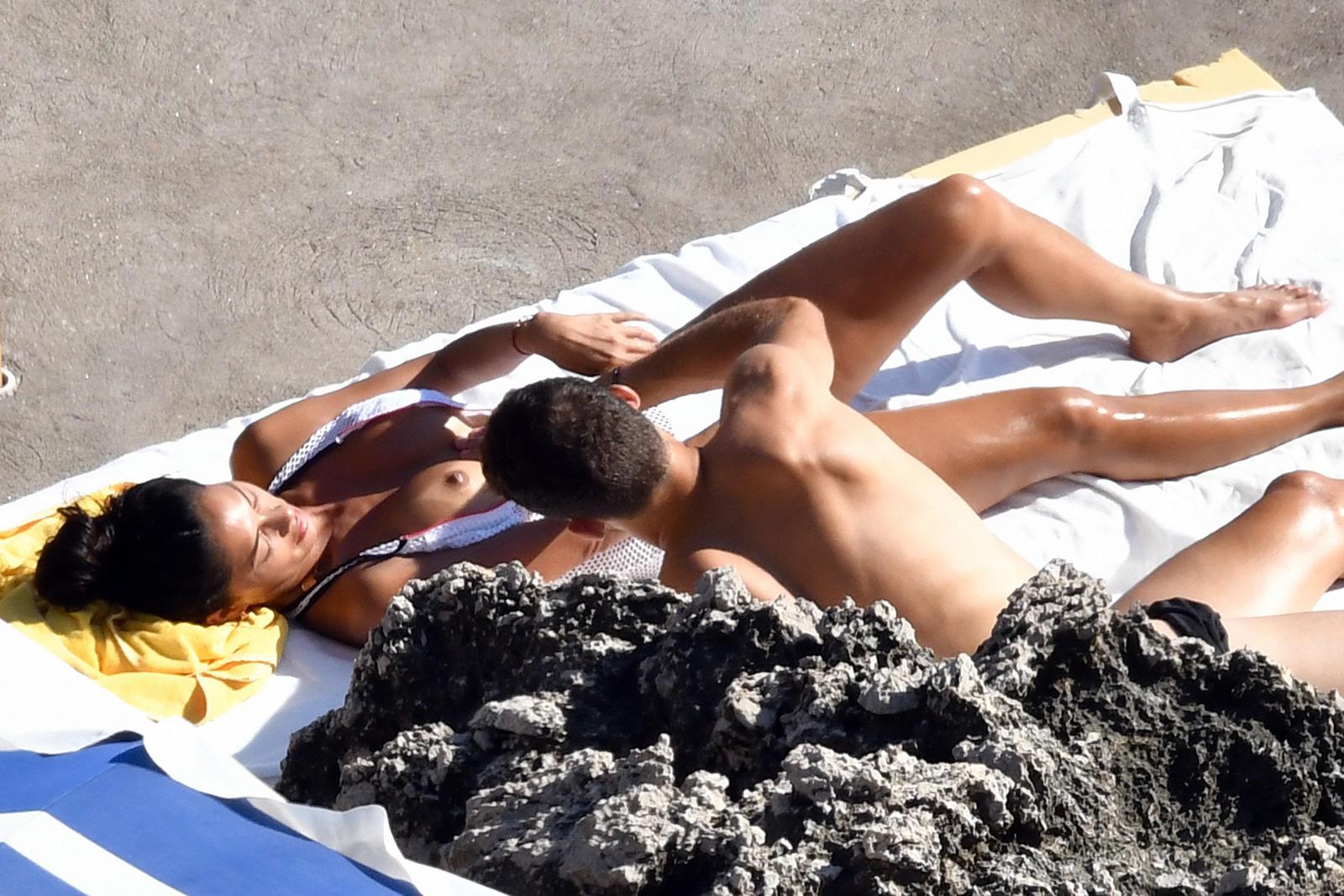 Nicole Scherzinger - Topless in Capri