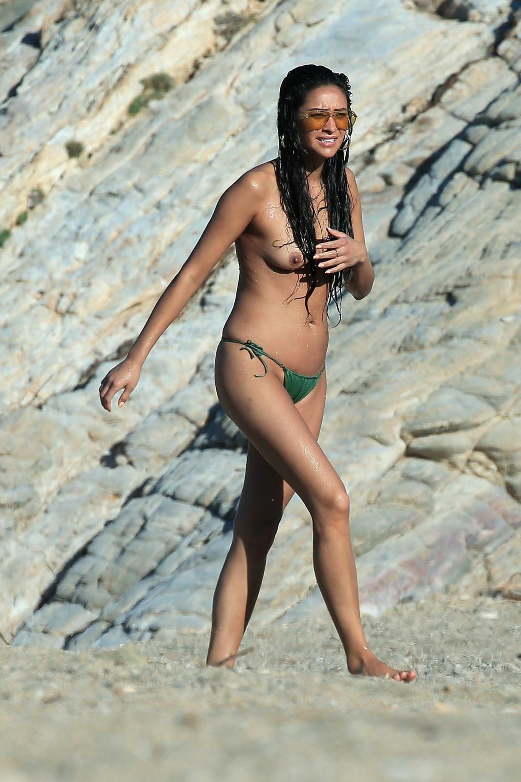 Shay Mitchell - Topless in Mykonos
