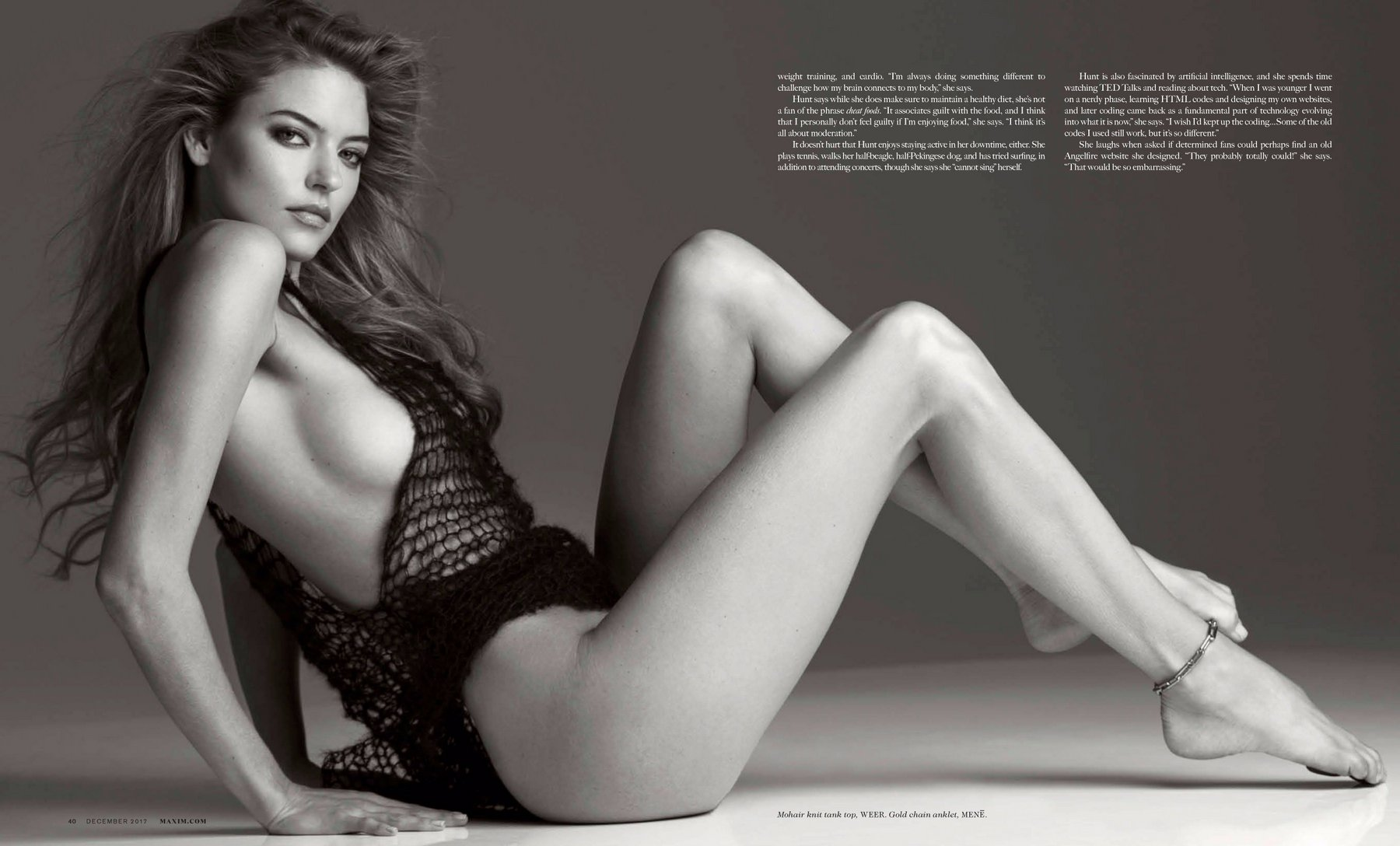 Martha Hunt – Maxim (December 2017) -Part 2-