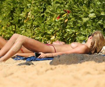 Toni Garrn - Topless in Hawaii