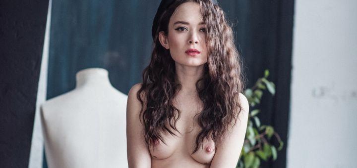 Polina Knyazeva - Satin Popalam photoshoot